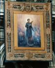 Stendardo con l'effige di Pierina Morosini esposto nella Basilica di San Pietro durante la beatificazione - dipinto di A. Capelli