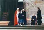 Sara Noris col beato Giovanni Paolo II