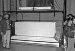 Il nuovo sarcofago in marmo che accoglierà le spoglie della beata nella chiesa parrocchiale di Fiobbio